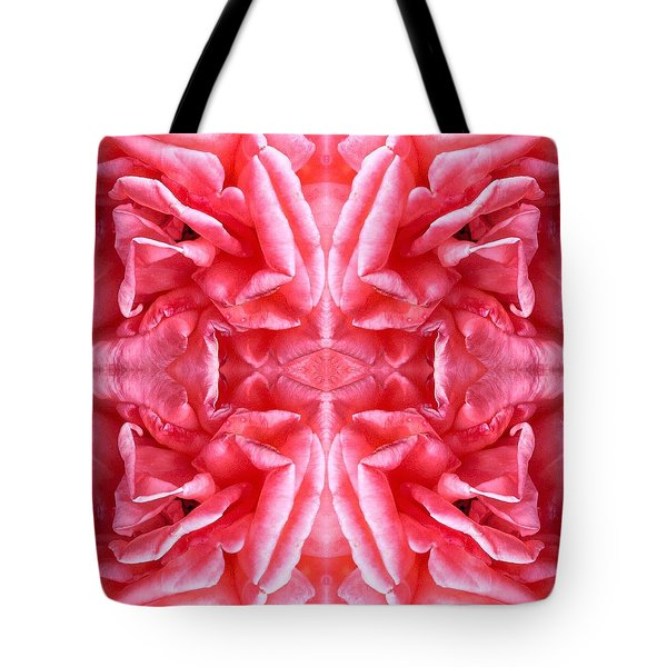 Tote Bag featuring the photograph Square Petals Abstract Art Photo by Marianne Dow