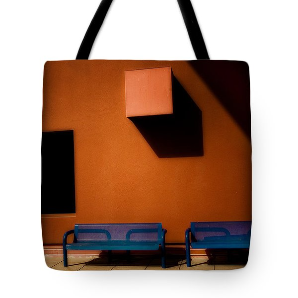 Square Shadows Tote Bag