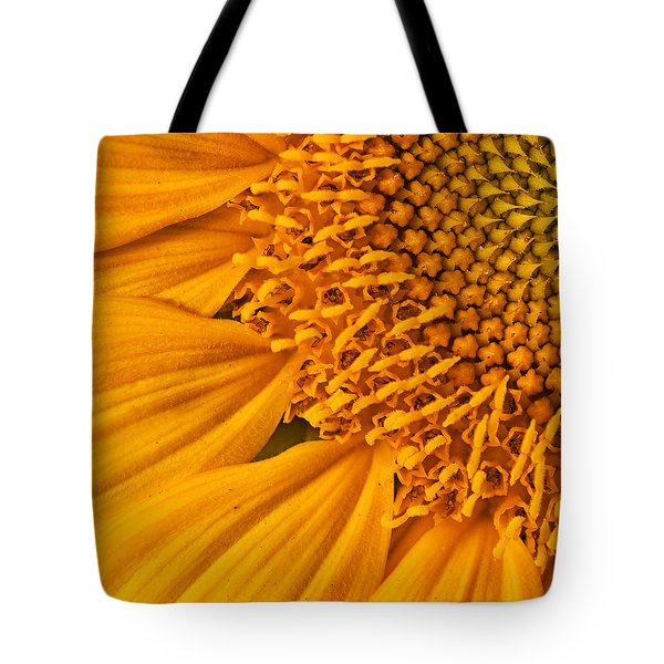 Square Sunflower Tote Bag