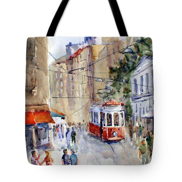 Square Tunel - Beyoglu Istanbul Tote Bag