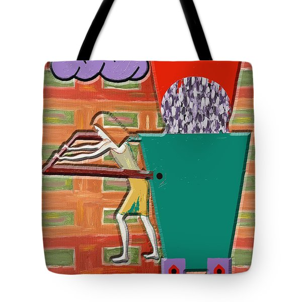 Square Wheels Make Life More Difficult  Tote Bag by Patrick J Murphy