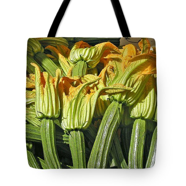 Squash Blossoms Tote Bag by Jean Hall