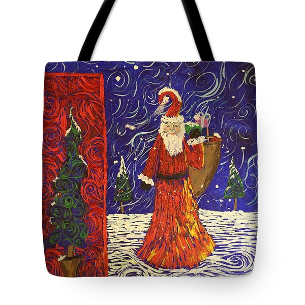 Squiggle Christmas Tote Bag