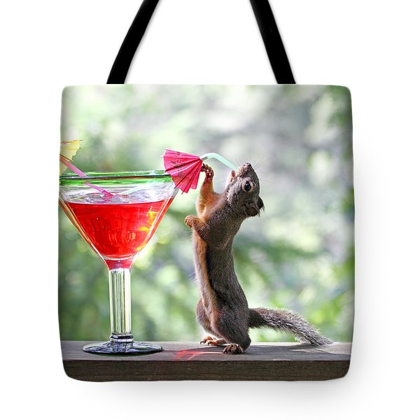 Squirrel At Cocktail Hour Tote Bag