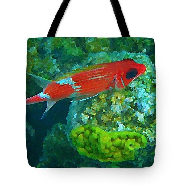 Squirrel Fish Tote Bag by John Malone