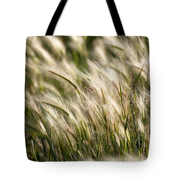 Squirrel Grass Tote Bag