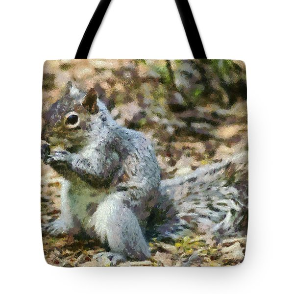 Squirrel In Central Park Tote Bag by George Atsametakis
