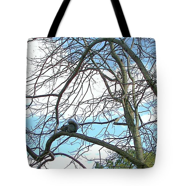 Tote Bag featuring the photograph Squirrel Maze by Pamela Hyde Wilson