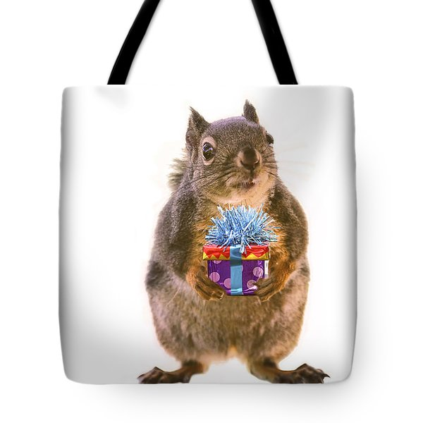 Squirrel With Gift Tote Bag
