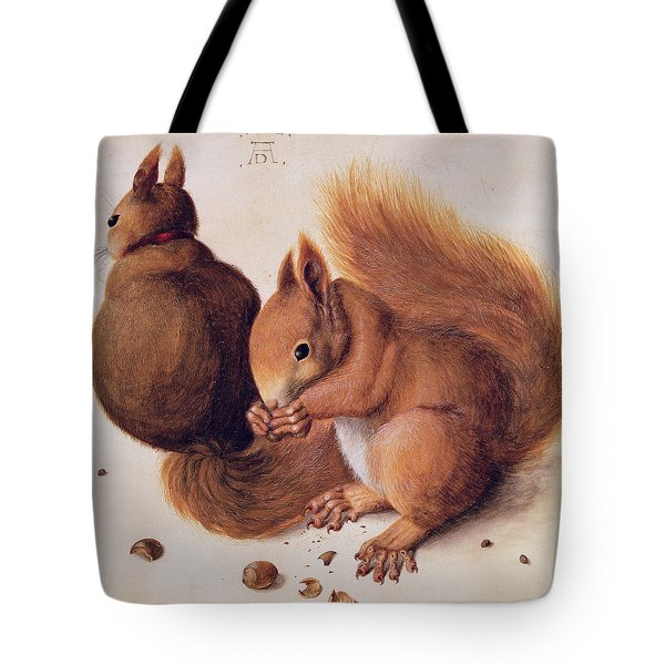Squirrels Tote Bag by Albrecht Duerer