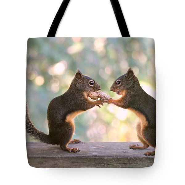 Squirrels That Share Tote Bag
