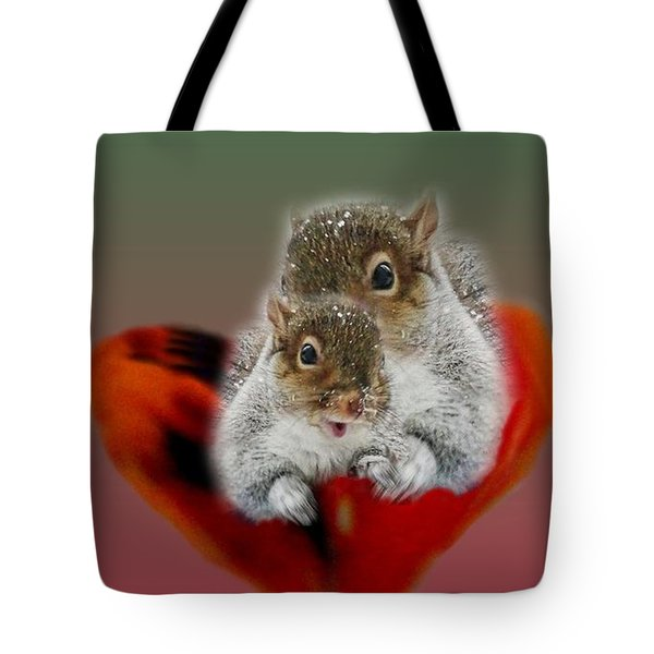 Squirrels Valentine Tote Bag