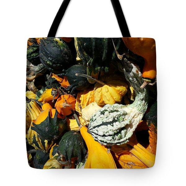 Tote Bag featuring the photograph Squish Squash by Caryl J Bohn