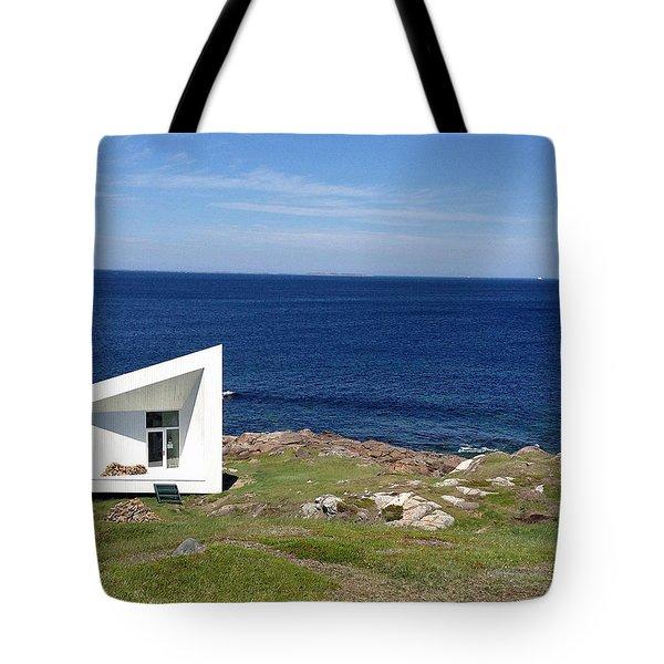 Squish Studio Tilting Fogo Island Newfoundland Tote Bag