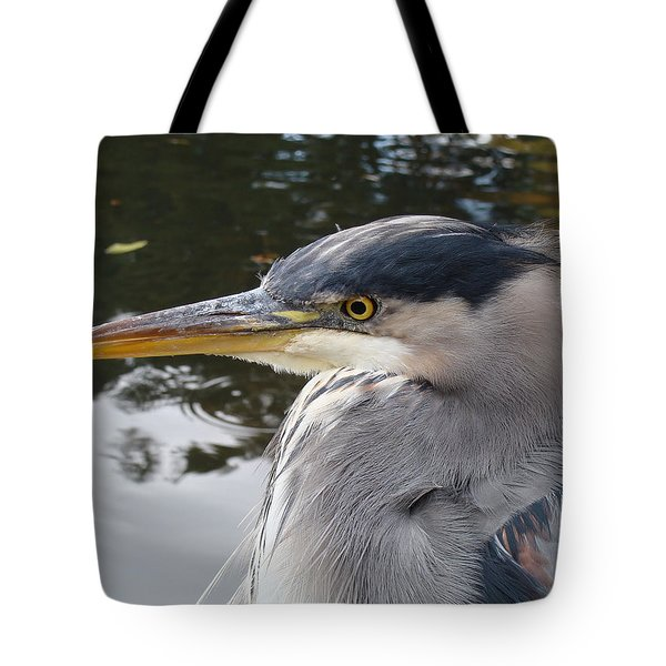 Tote Bag featuring the photograph Sr Heron  by Cheryl Hoyle
