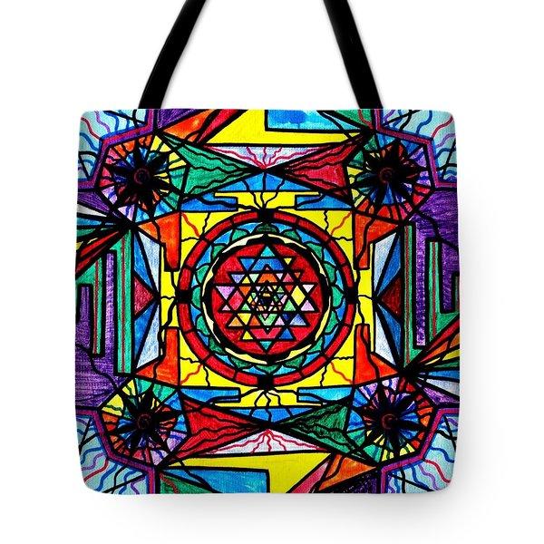 Sri Yantra Tote Bag by Teal Eye  Print Store