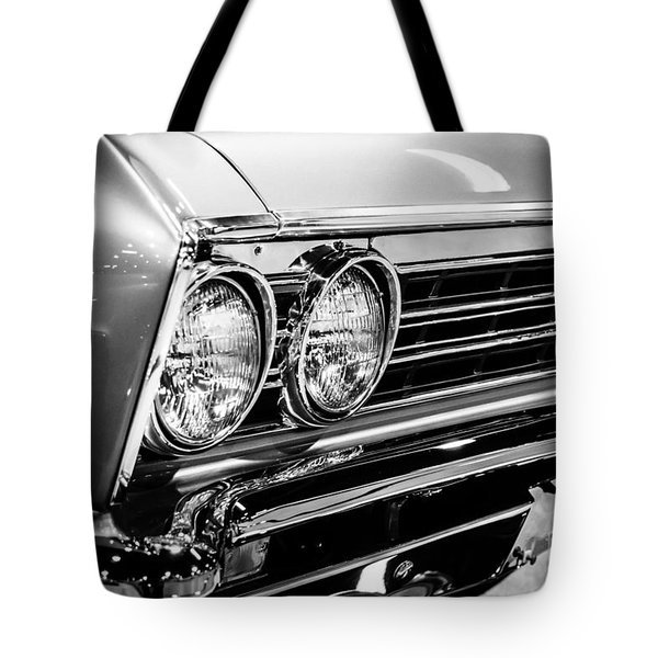 Ss396 Chevelle Black And White Picture Tote Bag by Paul Velgos