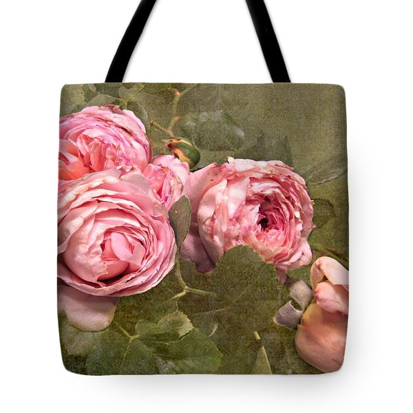 Abraham Darby Rose Tote Bag by Shirley Sirois