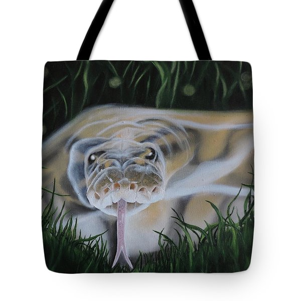 Tote Bag featuring the painting Ssssmantha by Dianna Lewis