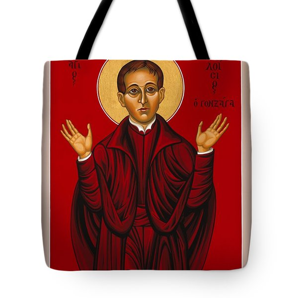 St. Aloysius In The Fire Of Prayer 020 Tote Bag