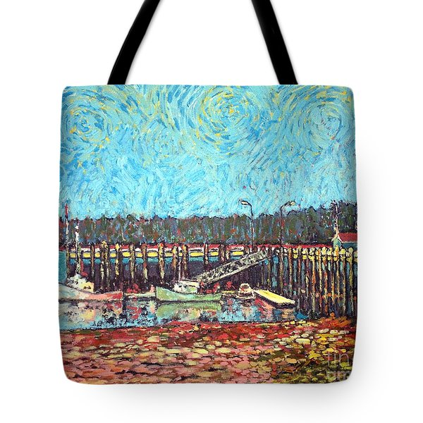 St Andrews Wharf Tote Bag