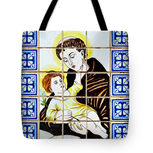 St Anthony Of Padua Tote Bag by Christine Till