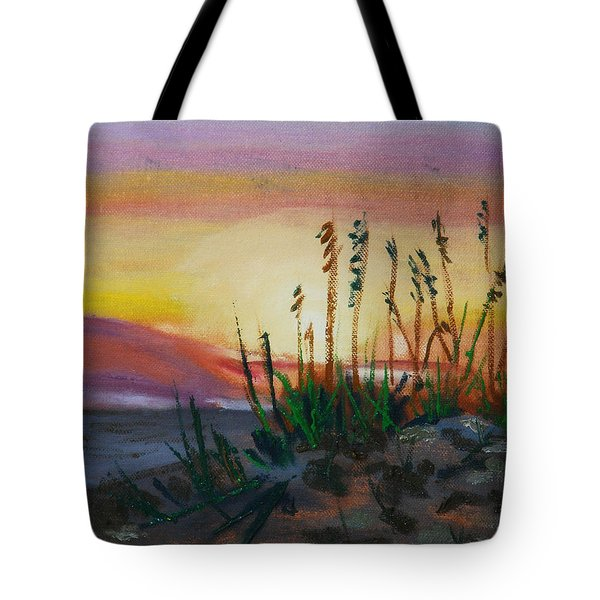 Beach At Sunrise Tote Bag