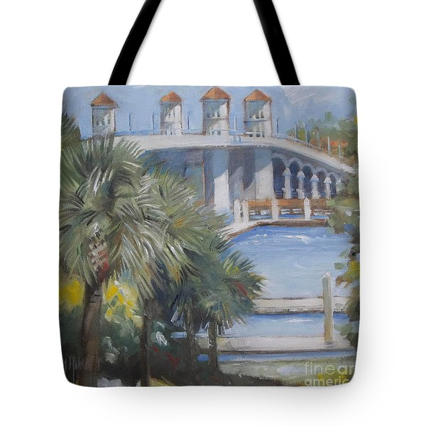 St Augustine Bridge Of Lions Tote Bag