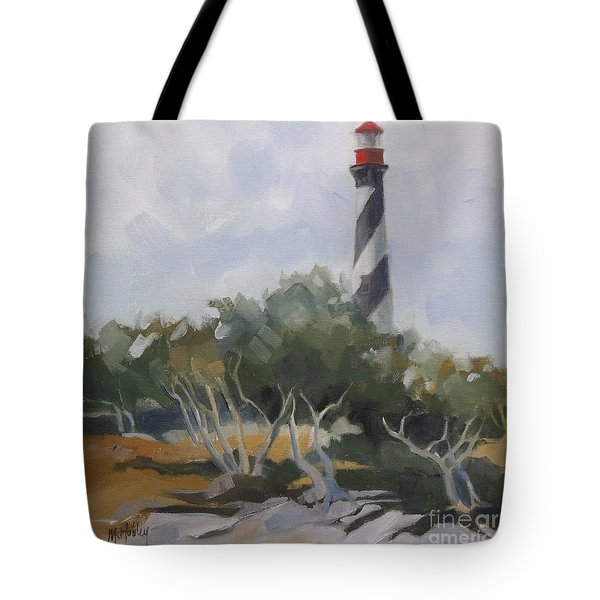 St Augustine Lighthouse First Light Tote Bag
