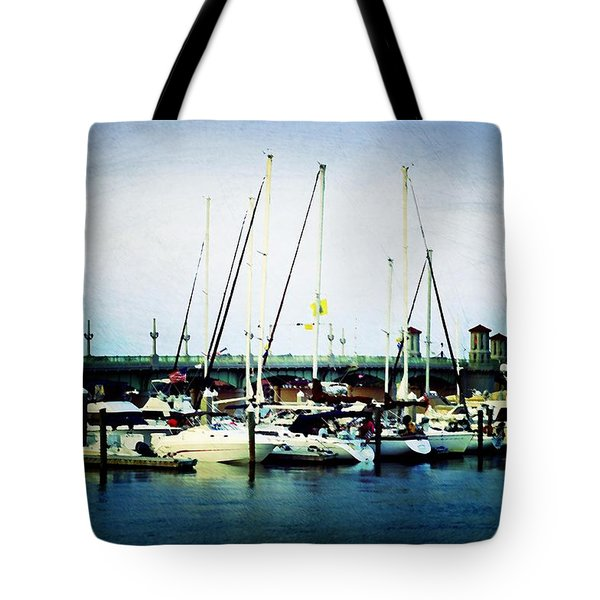 St. Augustine Sailboats Tote Bag by Laurie Perry