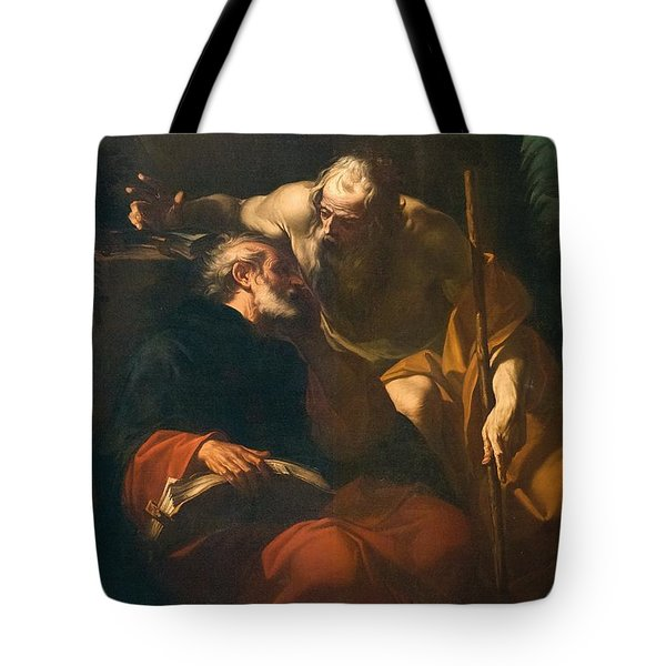 St. Benedict And A Hermit Tote Bag by Domenico Maria Viani