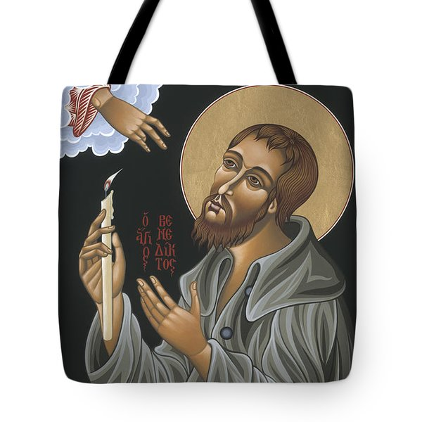 Tote Bag featuring the painting St. Benedict Joseph Labre 062 by William Hart McNichols