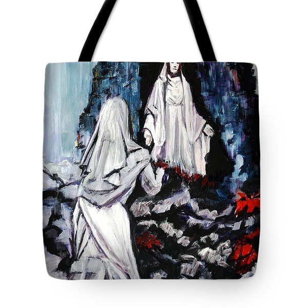 St. Bernadette At The Grotto Tote Bag