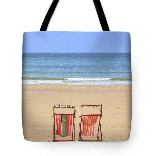 St Brelade's Bay - Jersey Tote Bag by Joana Kruse