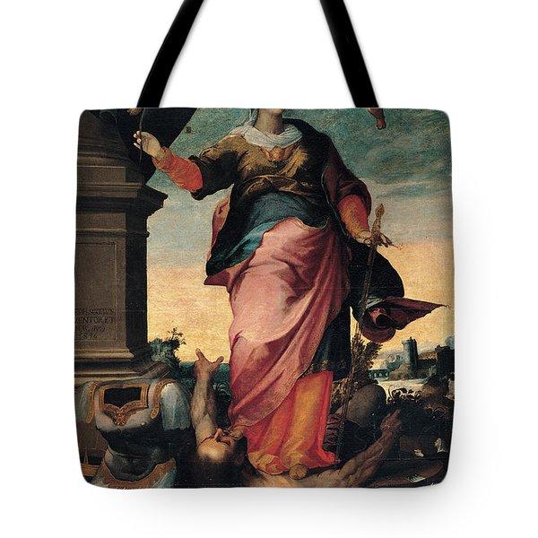 St Catherine Of Alexandria, 1570 - 1611 Tote Bag by Il Sozzo
