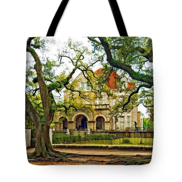 St. Charles Ave. Mansion Paint Tote Bag by Steve Harrington