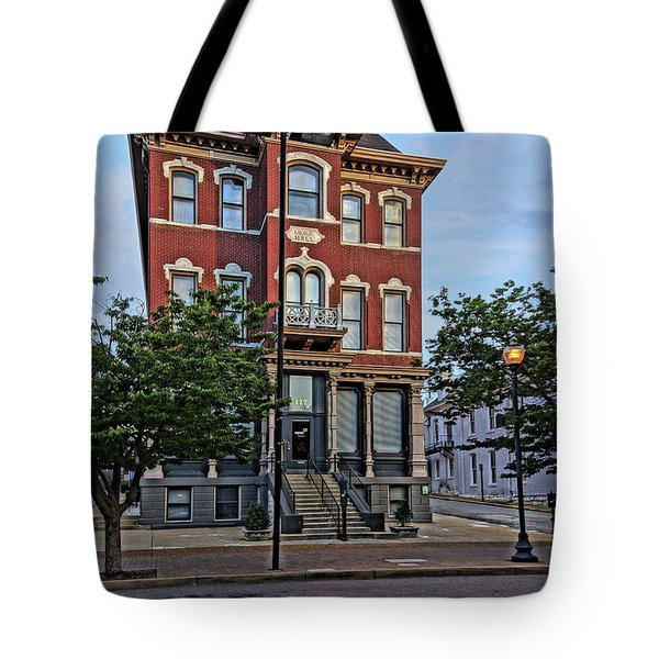 St. Charles Odd Fellows Hall Built In 1878 Dsc00810  Tote Bag