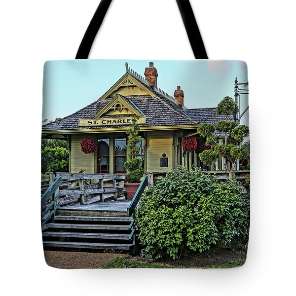 St Charles Station On The Katty Trail Look West Dsc00849 Tote Bag