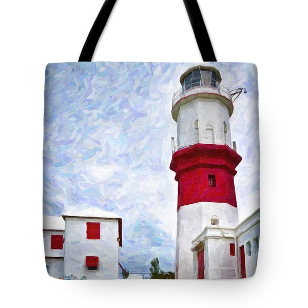 Tote Bag featuring the photograph St. David's Lighthouse by Verena Matthew