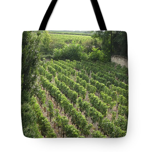 Tote Bag featuring the photograph St. Emilion Vineyard by HEVi FineArt