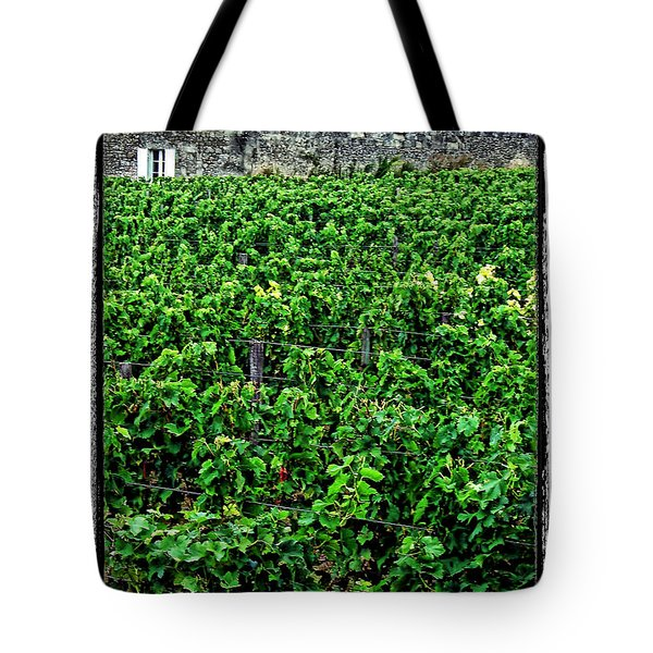Tote Bag featuring the photograph St. Emilion Winery by Joan  Minchak