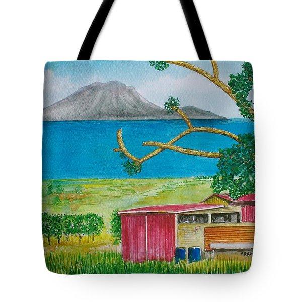 St. Eustatis From St. Kitts Tote Bag by Frank Hunter