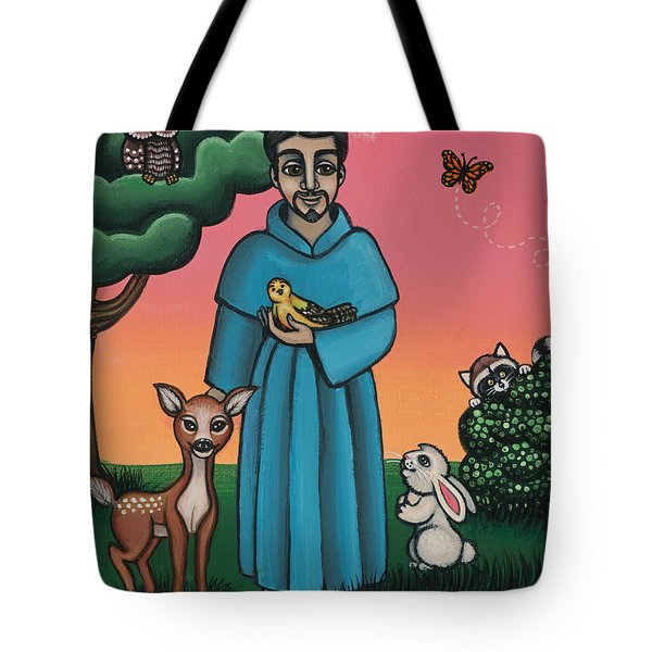 St. Francis Animal Saint Tote Bag