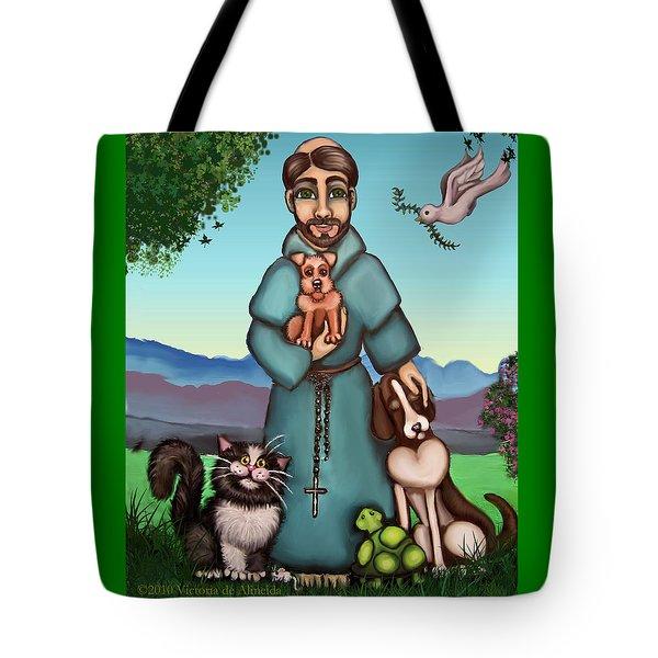 St. Francis Libertys Blessing Tote Bag by Victoria De Almeida