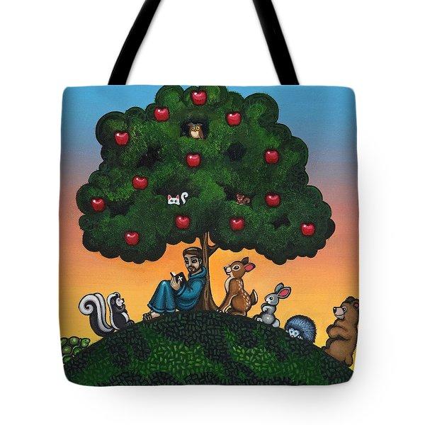 St. Francis Mother Natures Son Tote Bag by Victoria De Almeida