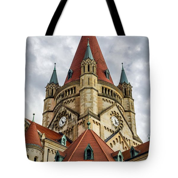 St. Francis Of Assisi Church In Vienna Tote Bag