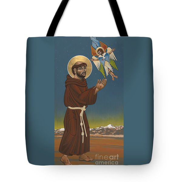 Tote Bag featuring the painting St. Francis Patron Of Colorado 186 by William Hart McNichols