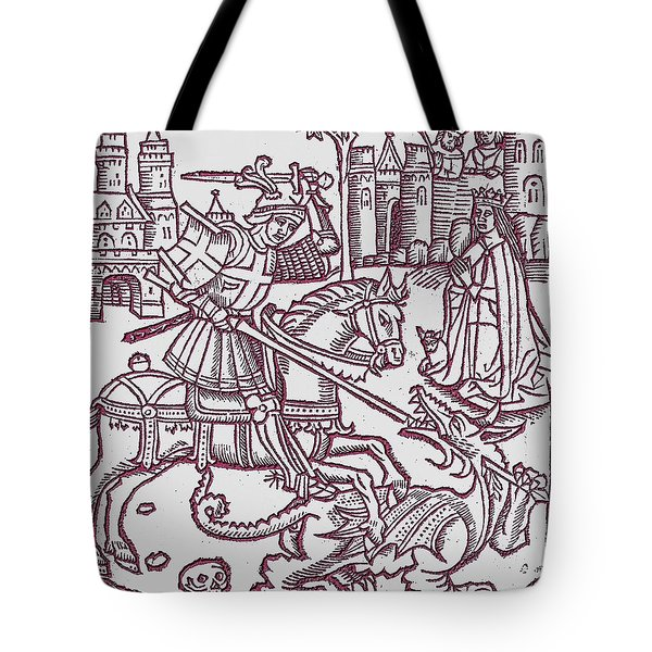 St. George - Woodcut Tote Bag