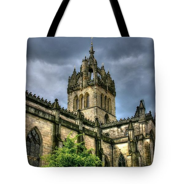 St Giles And Tree Tote Bag