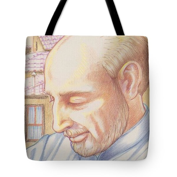 Tote Bag featuring the painting St. Ignatius At Prayer In Rome by William Hart McNichols
